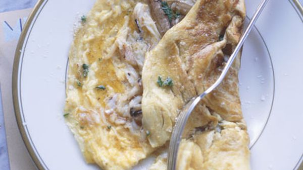 Blue swimmer crab omelette