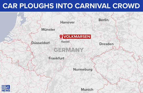 The carnival was being held in the town of Volkmarsen.