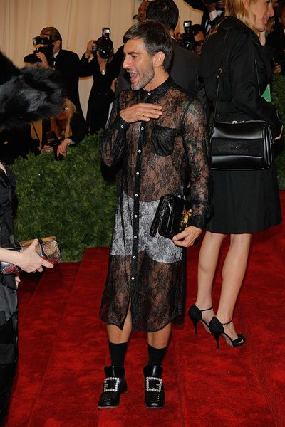 Marc Jacobs in a dress