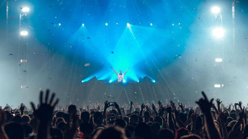 Dutch music producer Armin Van Buuren playing at A State of Trance on Saturday. (Twitter)