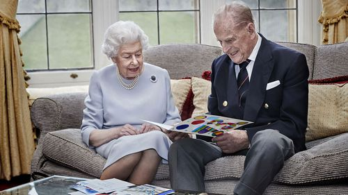 Queen and Prince Philip 73rd anniversary photo.