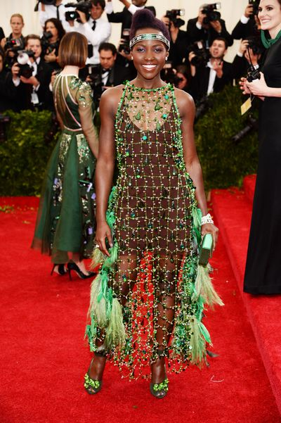 Lupita Nyong'o at theCostume Institute Gala in New York, 2014