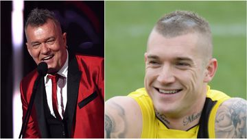 Dustin Martin will join Jimmy Barnes and other stars for the Footy Show's Grand Final spectacular.