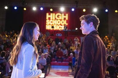 Joshua Bassett and Olivia Rodrigo star in High School Musical: The Musical: The Series.