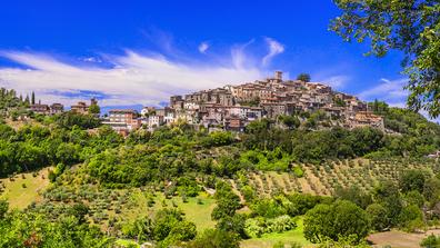 picturesque Casperia in Rieti province of Italy.