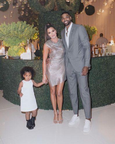 Khloé Kardashian, Tristan Thompson, daughter True, family, photo