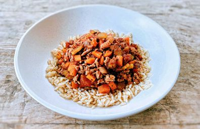 Turkey Bolognese recipe for Strictly You fitness and diet program by Sonia Kruger
