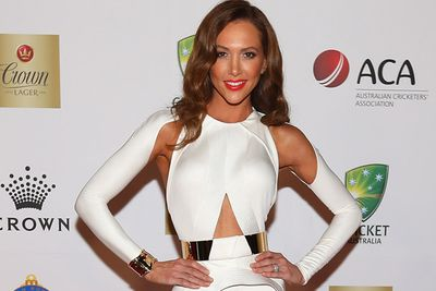 Aussie cricket captain Michael Clarke's wife will dance with Damien Whitewood. What a babe!<br/><br/>Image: Getty