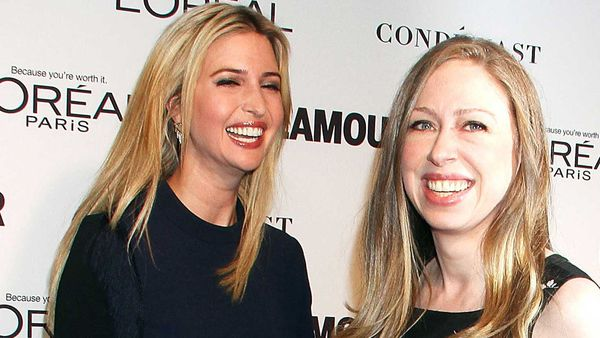 Ivanka Trump and Chelsea Clinton in 2014. (Getty)
