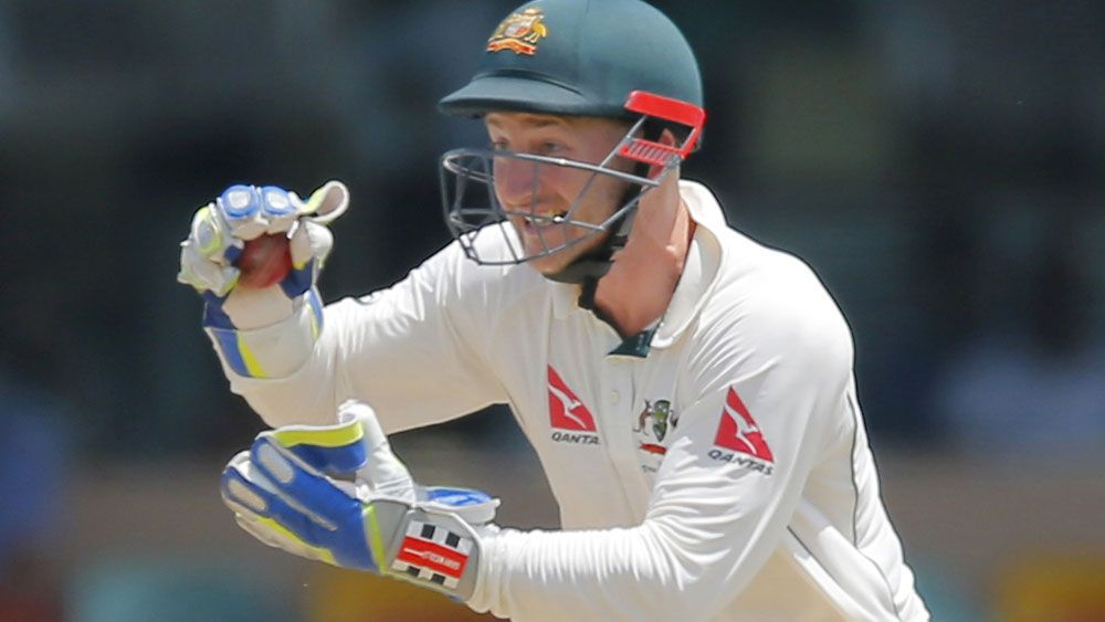 Peter Nevill had a brief response to questions over his sturmping. (AAP)