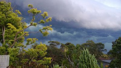 Linda Jones shared this pick of the storms moving over her neighbourhood on Monday.