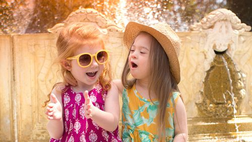 """The brands designer says Cora's joy behind the camera is """"contagious"""". (Livie & Lucas)"""