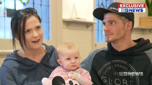 Tiffany Henderson rushed her daughter to hospital after her condition suddenly deteriorated. Picture: 9NEWS