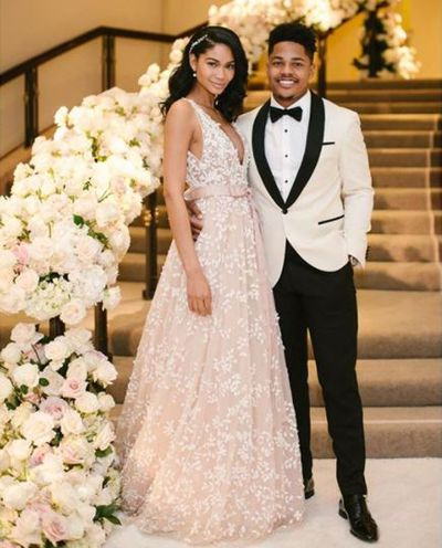 Chanel Iman and new husband Sterling Shepard
