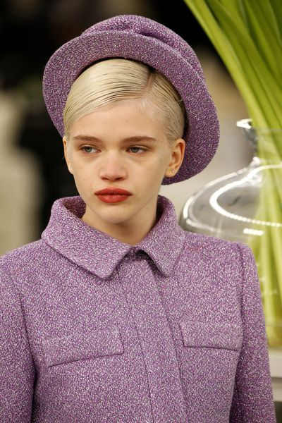 <p>Chanel Haute Couture Spring 2017. Plaid suits in perfect pastels.</p>
