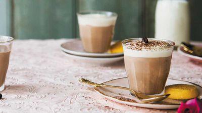 Caffe latte mousse cups