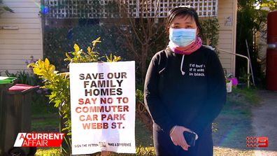 Residents in a suburb south of Sydney say they're being forced out of their homes by a new commuter car park.