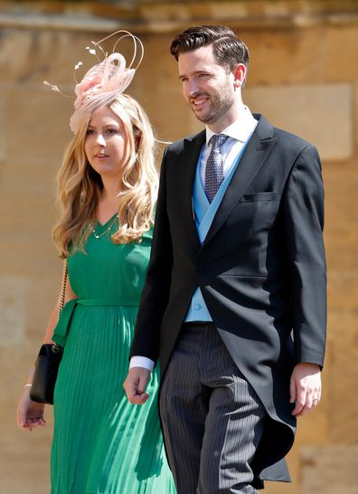 Knauf attends the wedding of Prince Harry and Meghan Markle in 2018.