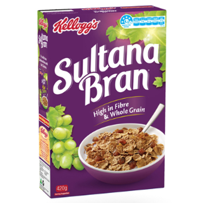 <strong>Sultana Bran (28.2 grams of sugar per 100 grams)</strong>