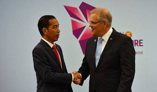 """The meeting between Mr Widodo and Mr Morrison was described as """"frosty""""."""