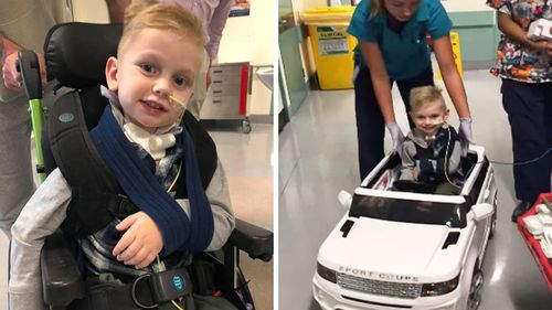 Jabob James has been busy winning over the hospital's nurses and doctors with his trademark grin.