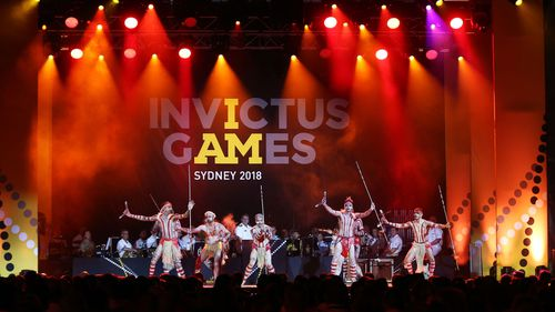 The Invictus Games Opening Ceremony was delayed by just over an hour after severe thunderstorms hit Sydney