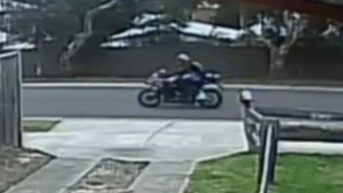Police are investigating whether the man, and also a motorcyclist seen on Phillip Island on July 23, are Mr Basham. Picture: Supplied.