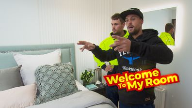 Welcome To My Room: Josh and Luke show off the feature wall in their guest bedroom