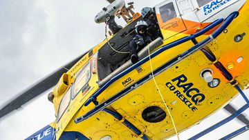 A woman was airlifted to Mackay Base Hospital following a Irukandji sting via the RACQ CQ Rescue helicopter.