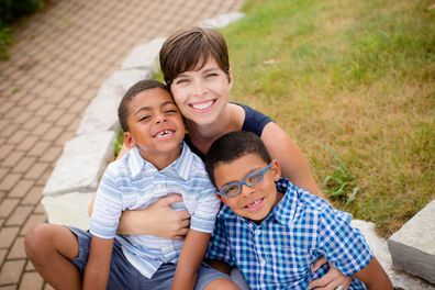 Tessie Sylvester with her two sons.