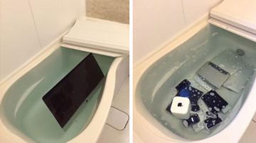 "<p _tmplitem=""1"">A Japanese woman has delighted her Twitter followers with a photo showing exactly how she got revenge on her cheating boyfriend.</p><p _tmplitem=""1""> The image, shared by the jilted woman last week, shows several thousand dollars worth of Apple products lying in her bathtub. </p><p _tmplitem=""1""> The sorry collection includes not only an Apple TV but several laptops and a tablet as well. </p><p _tmplitem=""1""> The woman is by no means the only one getting their own back on a cheating partner in a very public way. Click through this gallery to see more. </p><p _tmplitem=""1""> </p><p _tmplitem=""1"">A Japanese woman has delighted her Twitter followers with a photo showing exactly how she got revenge on her cheating boyfriend.</p><p _tmplitem=""1""> The image, shared by the jilted woman last week, shows several thousand dollars worth of Apple products lying in her bathtub. </p><p _tmplitem=""1""> The sorry collection includes not only an Apple TV but several laptops and a tablet as well. </p><p _tmplitem=""1""> The woman is by no means the only one getting their own back on a cheating partner in a very public way. Click through this gallery to see more. </p><p _tmplitem=""1""> </p>"