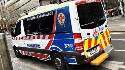 An Ambulance Victoria ambulance.