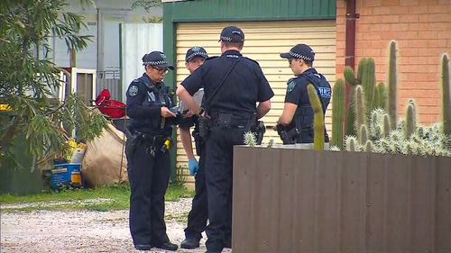 Police have spent the morning at the home and speaking to neighbours.