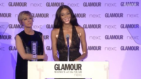 Winnie Harlow honoured at the Glamour Women of the Year Awards 2017