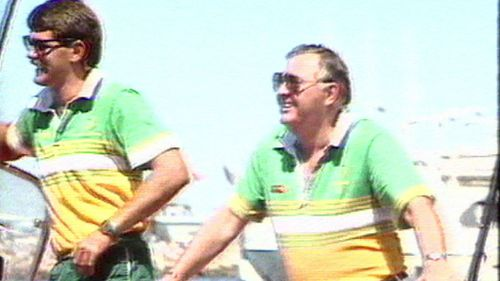 The businessman came to greater public prominence after bankrolling Australia's America's Cup win in 1983. (9NEWS)
