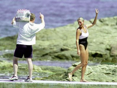 Trevor Rees-Jones and Princess Diana in St Tropez, summer 1997