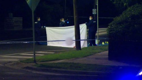 A 36-year-old man was shut dead Anakie Road in Bell Post Hill on Tuesday night by a man in a car who drove away. (9NEWS)