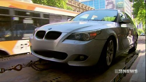 Ms Williams' silver BMW was parked in a clearway zone.
