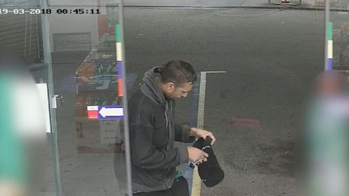 Anyone who recognises the man should contact Crime Stoppers. (9NEWS)