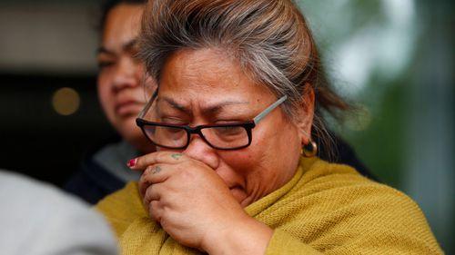 His mother Atagai Togatuki sobbed outside Glebe Coroner's Court in Sydney on Monday. (AAP)