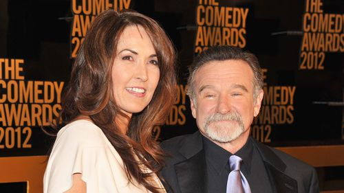 Susan Schneider and comedian Robin Williams attend The Comedy Awards 2012 at Hammerstein Ballroom on April 28, 2012 in New York City. (AFP)