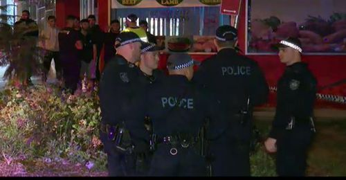Police were called to Constance St, Guildford, after reports of  a shooting at 9.45pm. (9NEWS)