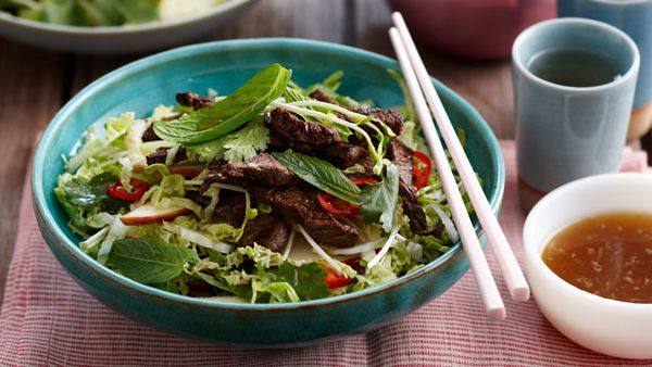 Shredded beef salad for $9.90