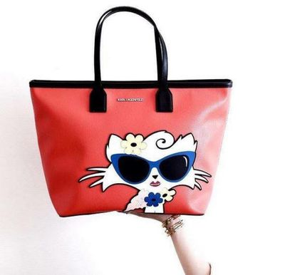 Choupette has even appeared on accessories for Karl Lagerfeld's own label