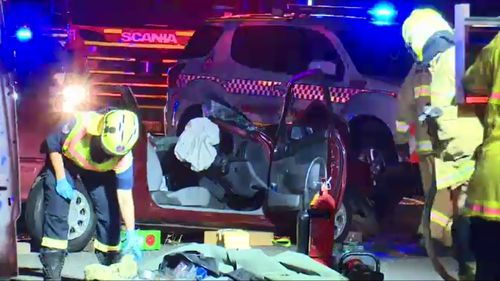 One person was killed and two injured in a crash in Yagoona in southwest Sydney.