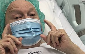 Bert Newton photographed in hospital prompting fears for his health