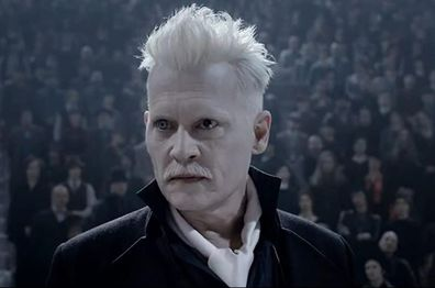 Johnny Depp in Fantastic Beasts.