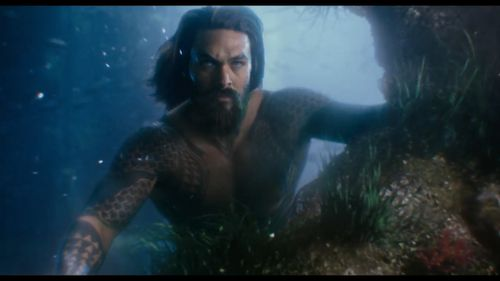 Game of Thrones hunk Jason Mamoa takes on the role of Aquaman.