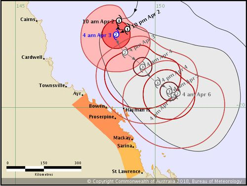 Iris is expected to intensify into a Category 3 storm on Wednesday. Picture: BoM.