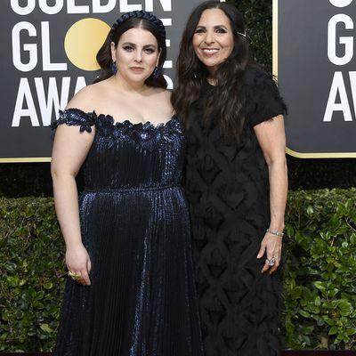 Beanie Feldstein and her mother Sharon Lyn Chalkin